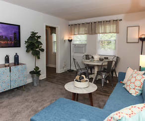 Living Room, Lothian & Oakridge Apartments
