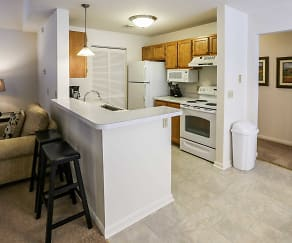 Kitchen, Daniel's Creek Luxury Apartments