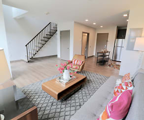 Living Room, 81 Arch Street Apartments