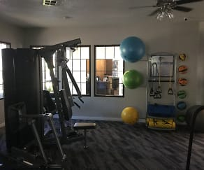Fitness Weight Room, Bay Breeze Apartments