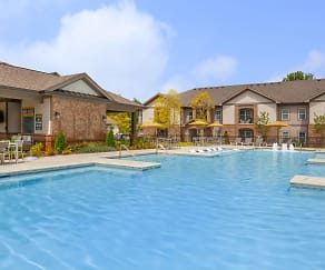 Pool, One White Oak Apartments