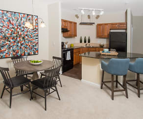 Open Kitchen with Large Island, Woodland Trail Apartments