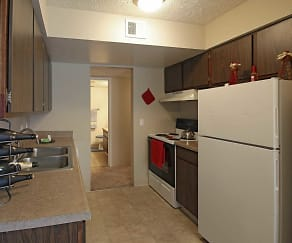 Kitchen, Cottonwood Apartments