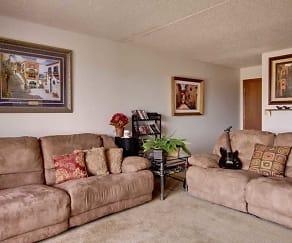 Living Room, Park Plaza Apartments