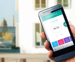 Control the temperature without getting up and never fumble for your keys again. Smart home tech available in every home!, Hillmeade Apartment Homes