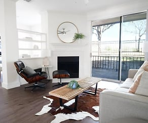 Living Room, The Courts of Bent Tree Townhomes