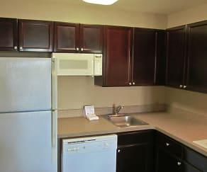 Kitchen, Furnished Studio - Memphis - Wolfchase Galleria