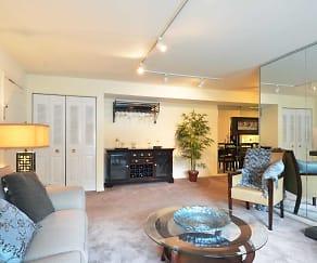 Living Room, Allandale Village Apartments