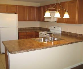 Kitchen, Village Apartments