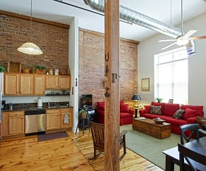 Living Room, Glen Street Associates Apartments