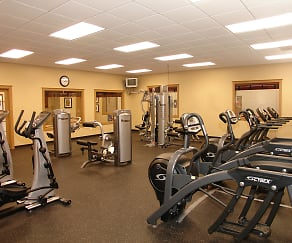 Fitness Weight Room, Corvias at Fort Bragg