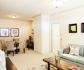 Living Room, Crescent Pointe Apartments