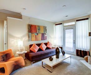 Living Room, Turtlecreek Apartments