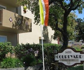Community Signage, Courtyard Apartments