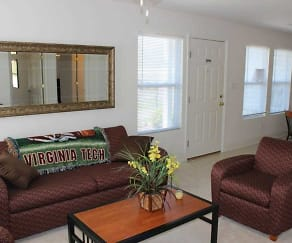 Living Room, Mt Tabor Village Apartments
