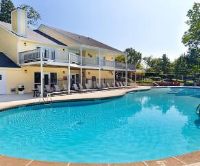 Resort-style hilltop pool, Brentwood Oaks