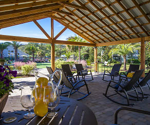 Our outdoor pergola is a great place to relax and enjoy some fresh air., Avalon Shores