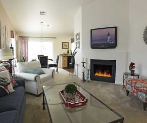 Living Room, The Bungalows at Sky Vista