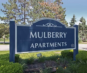 Community Signage, Mulberry Apartments