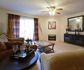 Living Room, The Apartments at Oakbrook Court