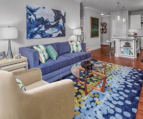 Living Room, Artisan Station Apartments