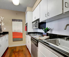 Galley Kitchen with Tons of Storage, Capitol Towers