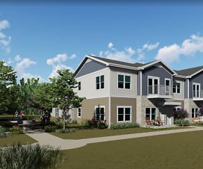 Rendering, The Granary Townhomes