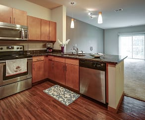 Kitchen, Mammoth Springs Apartments, Townhomes & Lofts