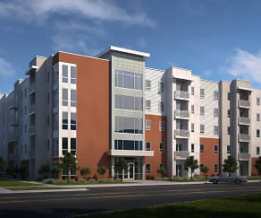 Rendering, 605 Place Student Housing