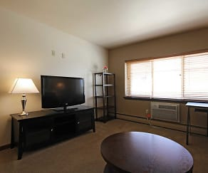 Living Room, Woodsview Apartments