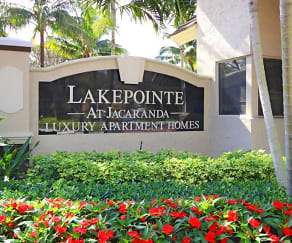 Community Signage, Lakepointe at Jacaranda Apartments