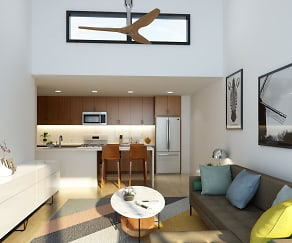Spacious living rooms with high cielings, 707 Leahy Apartments