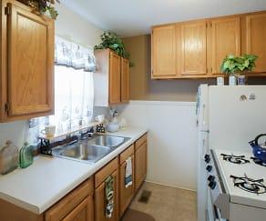 Kitchen, Parklane Apartments