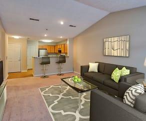Living Room, Hampton Knoll Apartments