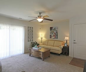 Living Room, Retreat at Henderson Lakes Apts
