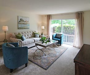 Living Room, Mansfield Village Apartments