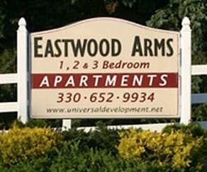Community Signage, Eastwood Arms Apartments