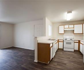 Kitchen & Living Room, Aspen Ridge Apartments
