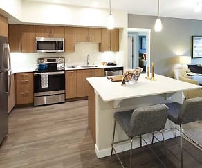 Two Bedroom Flat Kitchen, Avalon Newcastle Commons