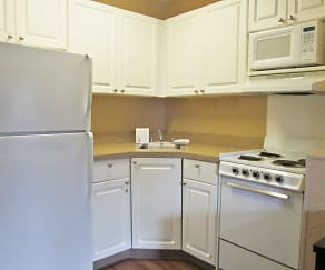 Kitchen, Furnished Studio - Fremont - Newark