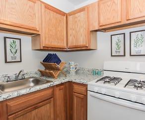 Kitchen, Lothian & Oakridge Apartments