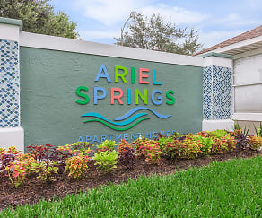 Community Signage, Ariel Springs