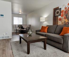 Living Room, Havenwood Townhomes