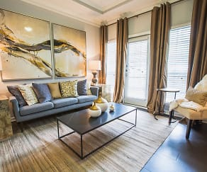 Living Room, The James at Sugarloaf by Cortland