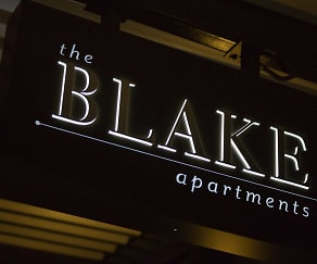Community Signage, The Blake Apartments