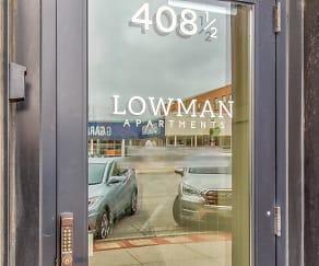 Community Signage, Lowman-Hadeland Apartments