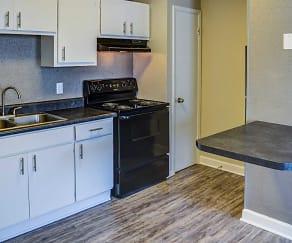 Kitchen, Woodhaven Apartments