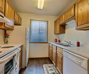 Kitchen, Flagstone Apartments