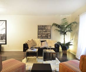 Living Room, MeadowPark Townhomes