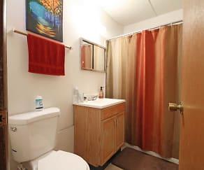 Bathroom, East Side Apartments